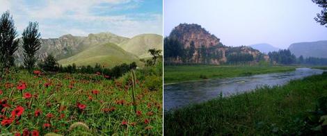 保定西部山区,距保定市区60公里,是景非美丽的山村和自然公园.